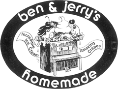 Sign that reads Ben & Jerry's Homemade