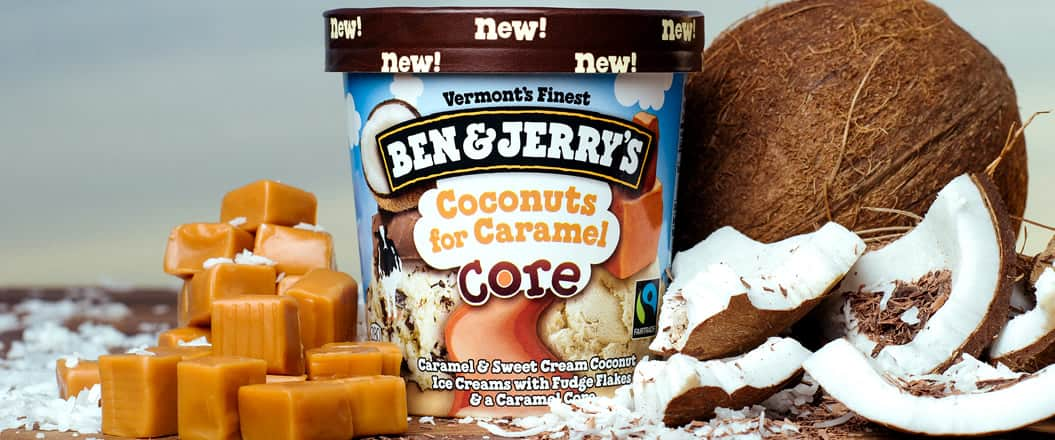 Ben & Jerry's Coconust for Caramel Core Ice Cream