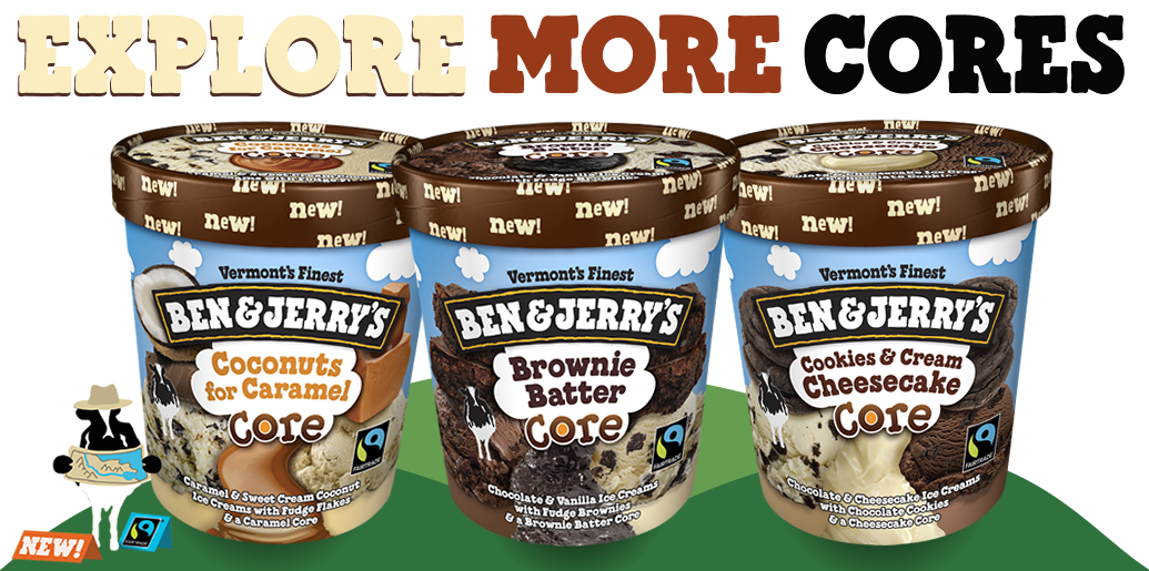Ben & Jerry's Explore More Cores Ice Cream Flavors