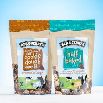 A Bag of Ben & Jerry's Chocolate Chip Cookie Dough Chunks & Half Baked Chunks