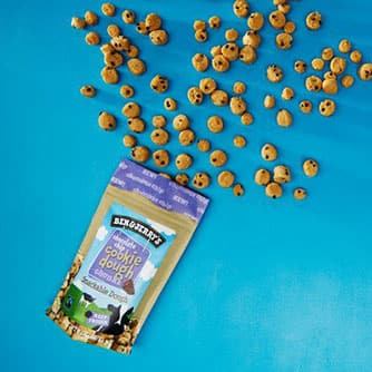 A Bag of Ben & Jerry's Chocolate Chip Cookie Dough Chunks