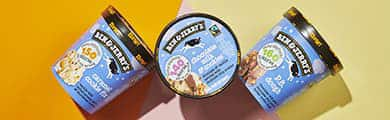 Three pints of Ben & Jerry's Moophoria Light Ice Cream