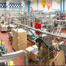 Image of inside of the factory and all the machinery