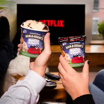 A pint of Ben & Jerry's Netflix & Chilll'd Ice Cream