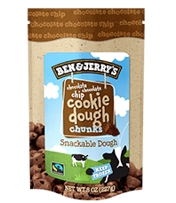 Chocolate Chocolate Chip Cookie Dough Bag