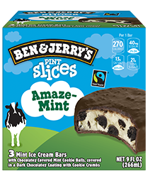 AmazeMint Original Ice Cream Pint Slices 3 Count