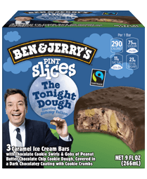 The Tonight Dough® Original Ice Cream Pint Slices 3 Count