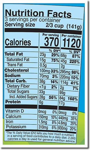 Nutrition Facts Label for Brewed to Matter™