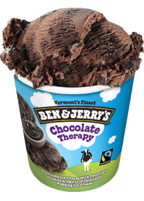 A Pint of Ben & Jerry's of Chocolate Therapy Ice cream