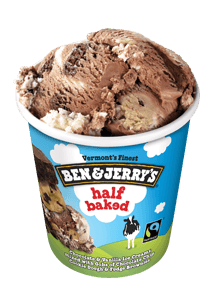 A Pint of Ben & Jerry's Half Baked Ice Cream
