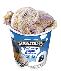Blueberry Vanilla Graham Greek Frozen Yogurt