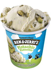 A Pint of Ben & Jerry's Pistachio Pistachio Ice Cream