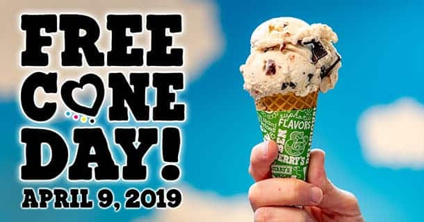 Free Cone Day Is April 9th!