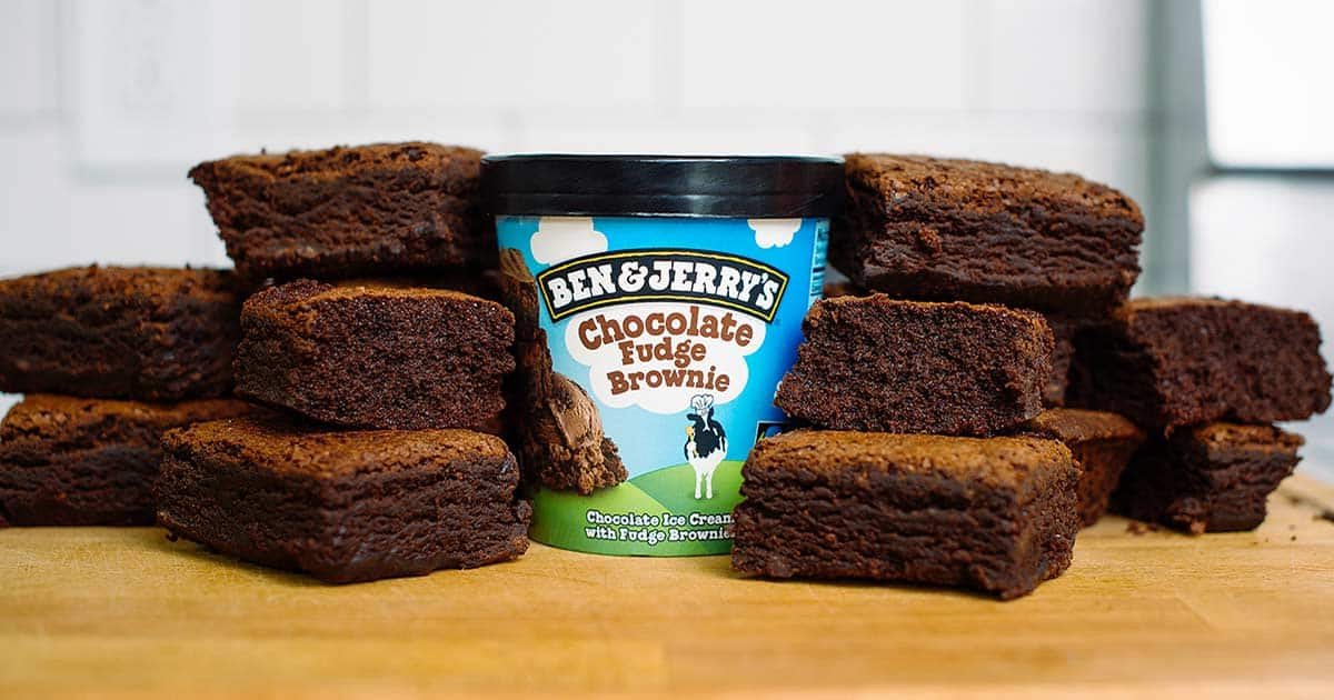 Greyston Bakery brownies and Ben & Jerry's ice cream