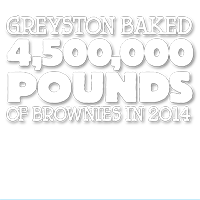 4.5 million pounds of brownies