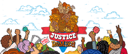 Justice Remixed Header Image - Activists holding ice Cream