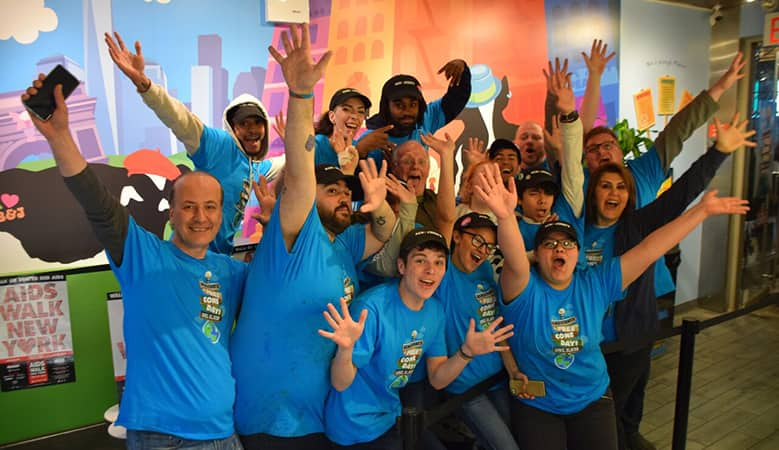 A Group of Ben & Jerry employees celebrating