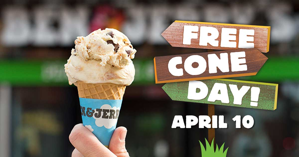 Free Cone Day is April 10, 2018!