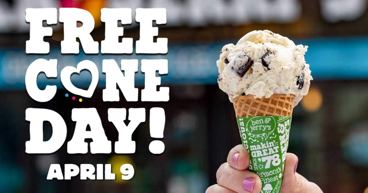 Free Cone Day is April 9, 2019!