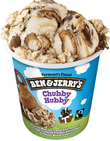 A Pint of Ben & Jerry's Chubby Hubby