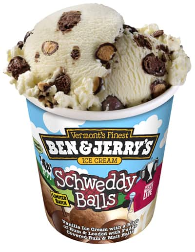 A pint of Ben & Jerry's Schweddy Balls