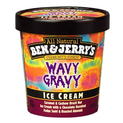 A Pint of Ben & Jerry's Wavy Gravy
