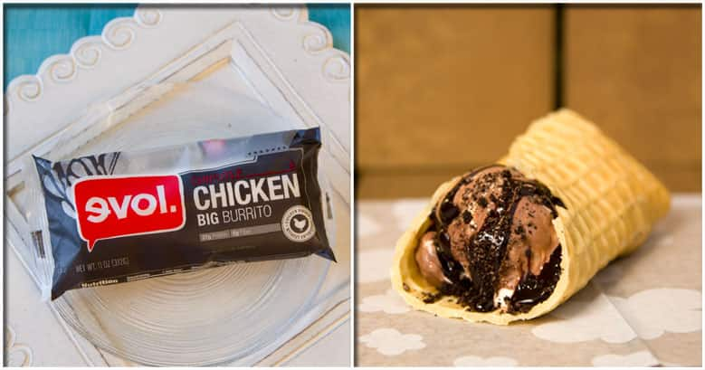 Ben & Jerry's BRRR-ito and Evol Burrito