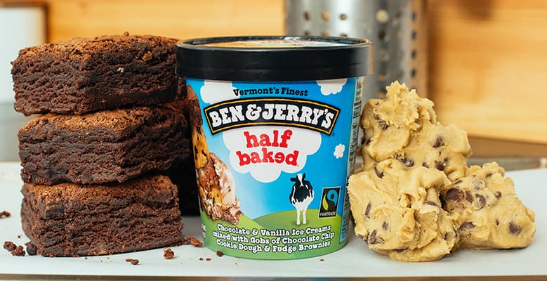 Ben & Jerry's Half Baked with brownies and ice cream