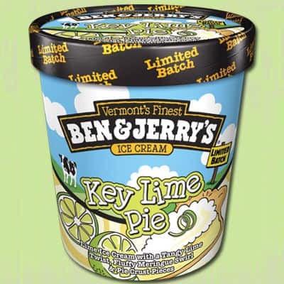 A pint of Ben & Jerry's Key Lime Pie