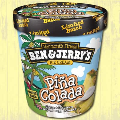 A pint of Ben & Jerry's Piña Colada