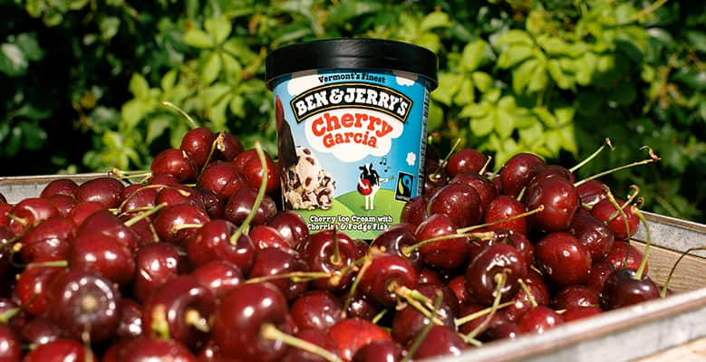 A pint of Ben & Jerry's Cherry Garcia with Cherries