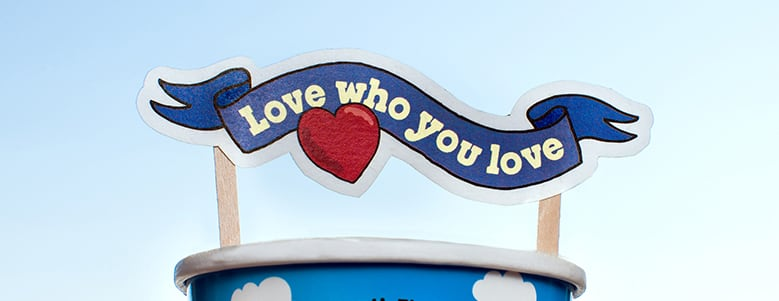 A Love who you Love sign