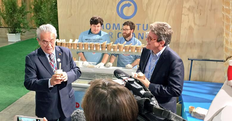 Ben & Jerry's Helping Climate Negotiators Chill Out, One Scoop at Time