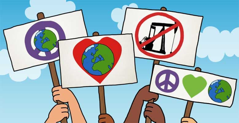 Image of Protesting signs