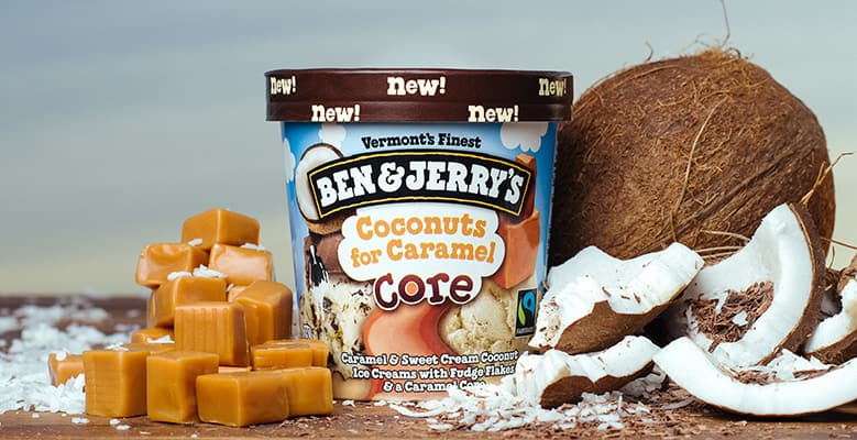 Ben & Jerry's Coconuts for Caramel Core