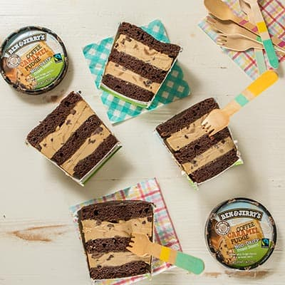 Vegan Layered Pint Cake and ice cream