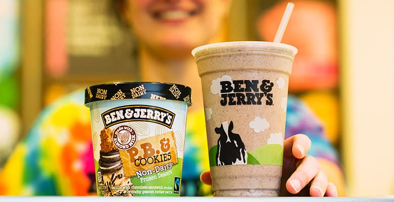 Milkshake & Ben & Jerry's Ice Cream