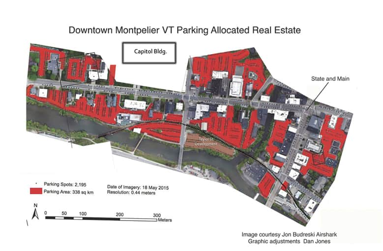 65% of downtown Montpelier, VT is parking