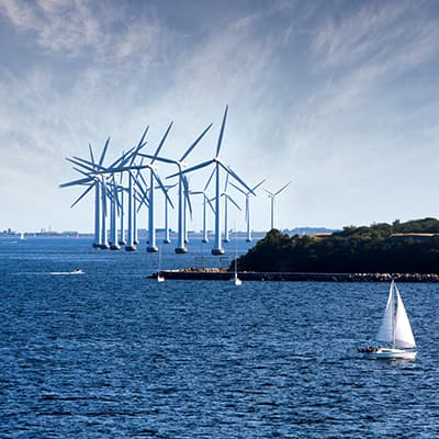 Turbines in the ocean