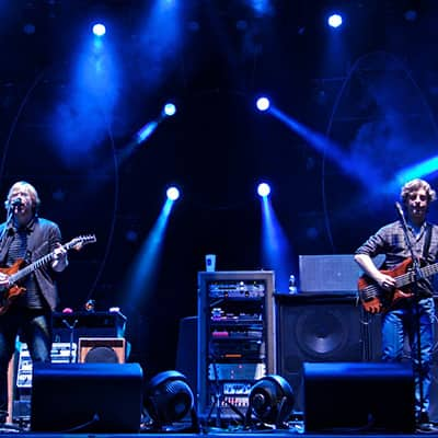 Phish performing