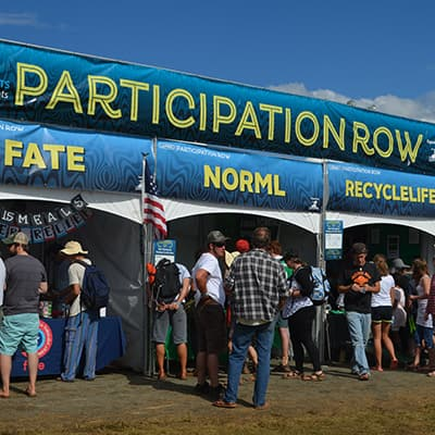 Participation Row, LOCKN' festival