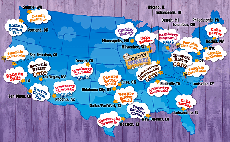 favorite flavor by city map