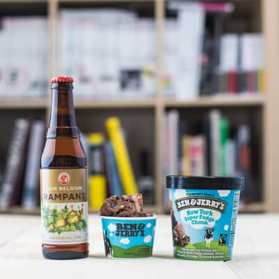 Ben & Jerry's and New Belgium Brewing beer and ice cream pairing