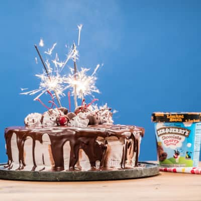 Ben & Jerry's Chocolate Cherry Firecracker Cake