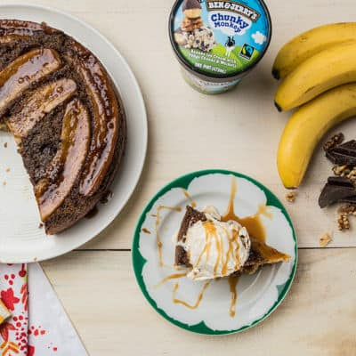 Ben & Jerry's Chunky Monkey Browned Butter Banana Upside Down Cake
