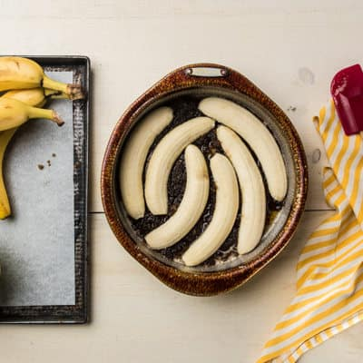 Brown Butter and Banana's in a pan
