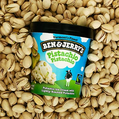 A pint of Ben & Jerry's Pistachio Pistachio
