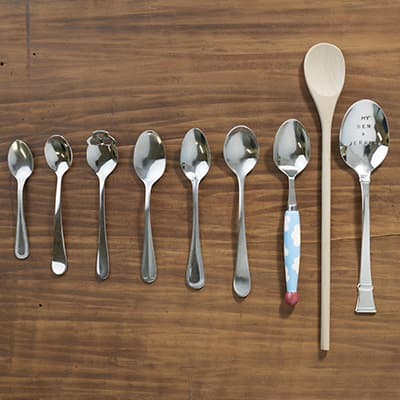 Different size spoons