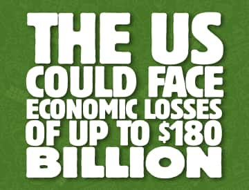 economic losses for US could be upto 180 billion