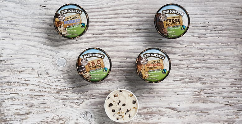 5 pints of Ben & Jerry's Non-Dairy Ice Cream